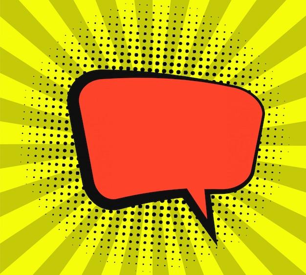 Conception de bulle de dialogue comique Vecteur Premium