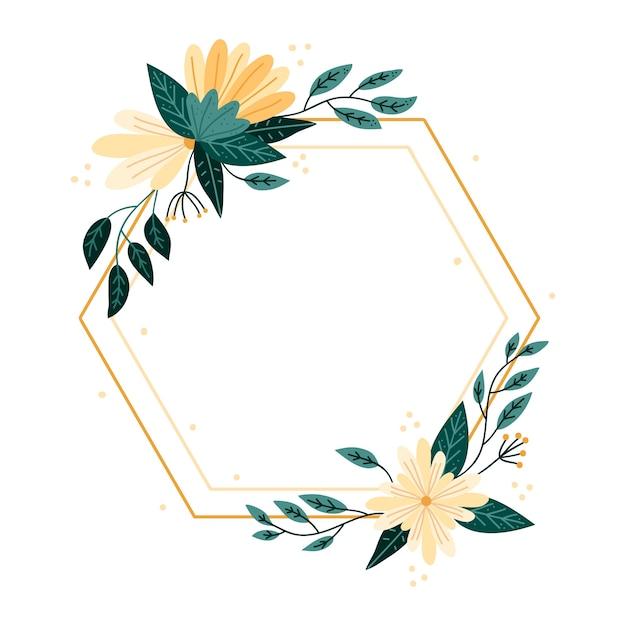 Conception De Cadre Floral De Printemps Dessiné à La Main Vecteur gratuit