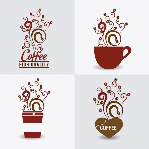 Conception De Café. Vecteur Premium