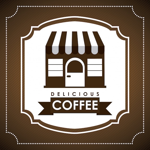 Conception de café Vecteur Premium