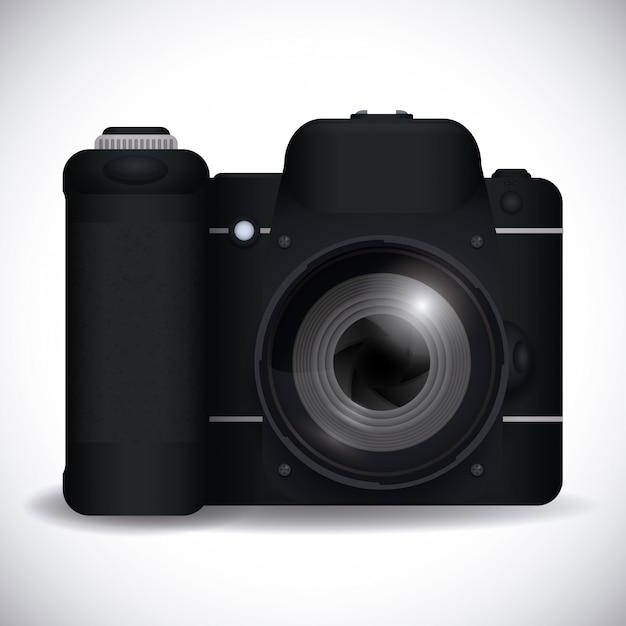 Conception de la caméra. Vecteur Premium