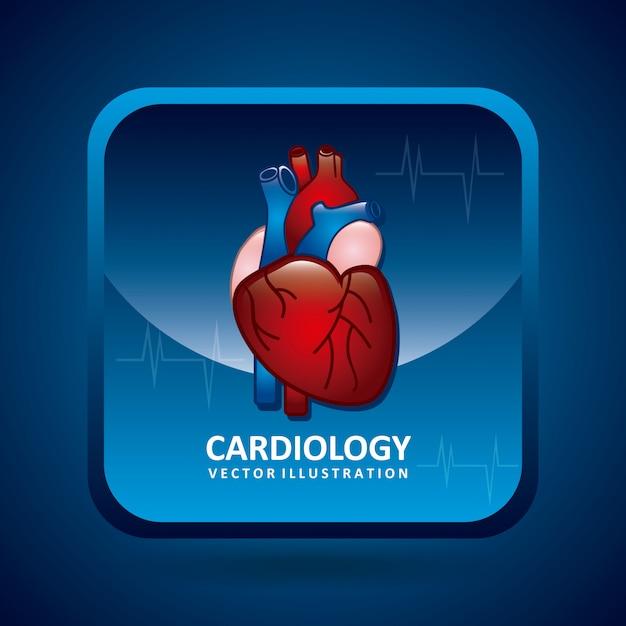 Conception en cardiologie Vecteur Premium