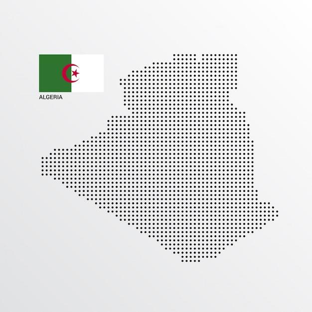 Conception De Carte Algérie Avec Drapeau Et Vecteur De Fond Clair Vecteur gratuit
