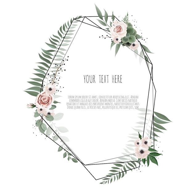 Conception de carte botanique floral vector Vecteur Premium