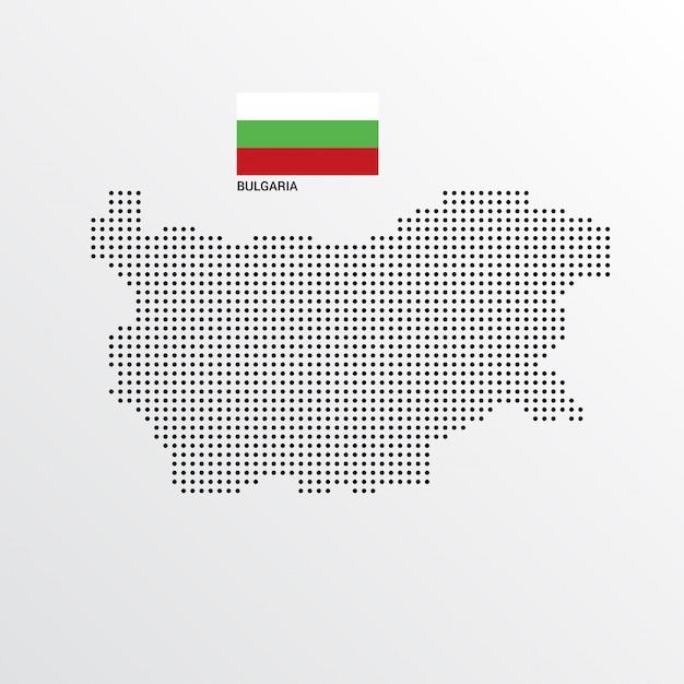 Conception De Carte De Bulgarie Avec Drapeau Et Vecteur De Fond Clair Vecteur gratuit
