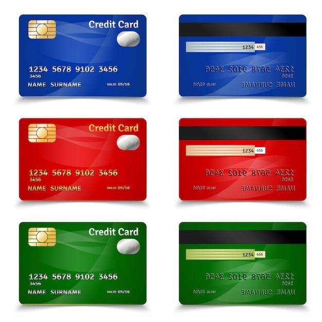 Conception de carte de crédit Vecteur gratuit