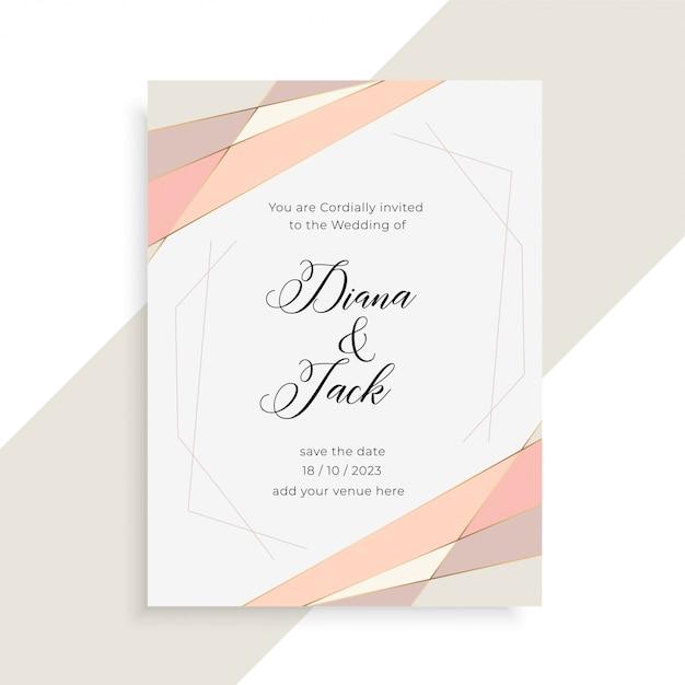 Conception De Carte D'invitation De Mariage élégant Subtil Vecteur gratuit