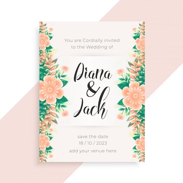 Conception de carte invitation mariage mariage concept Vecteur gratuit