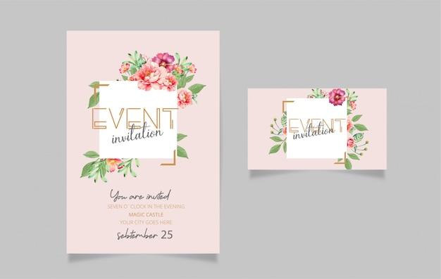 Conception de carte d'invitation modifiable Vecteur Premium