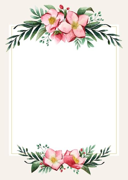 Conception de carte de mariage vierge Vecteur gratuit