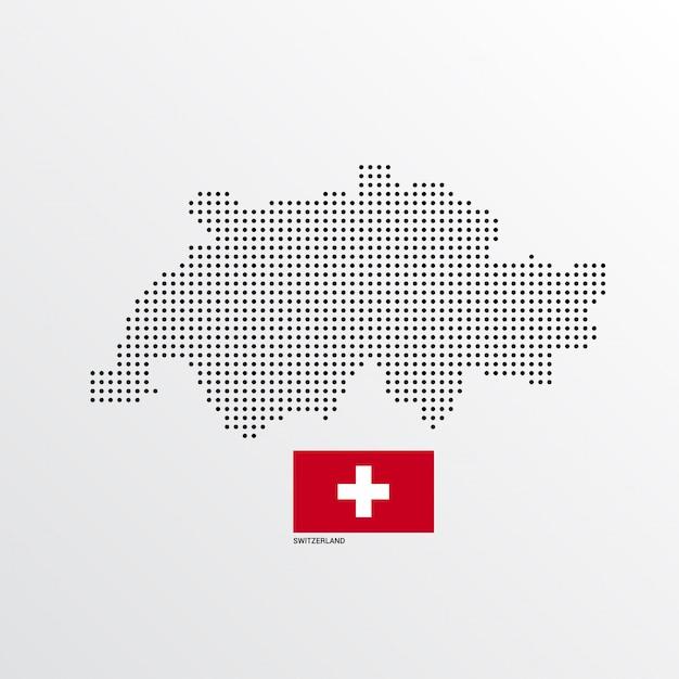 Conception de carte suisse Vecteur gratuit