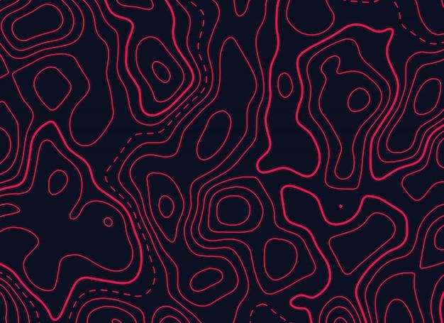 Conception De Carte Topographique En Couleur Rouge Vecteur gratuit