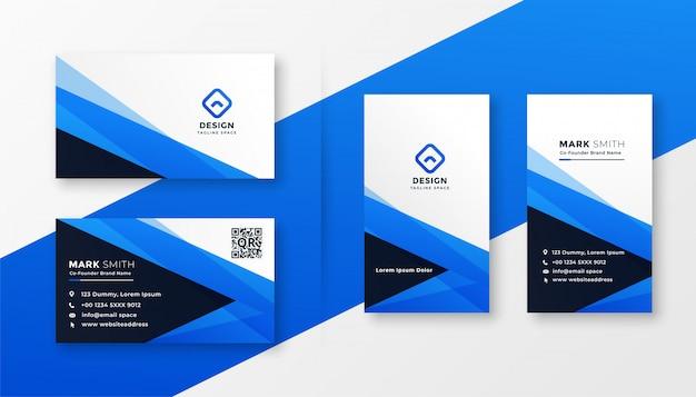 Conception de carte de visite bleu abstrait Vecteur gratuit
