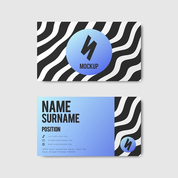 Conception de carte de visite créative de style memphis aux couleurs vives Vecteur gratuit