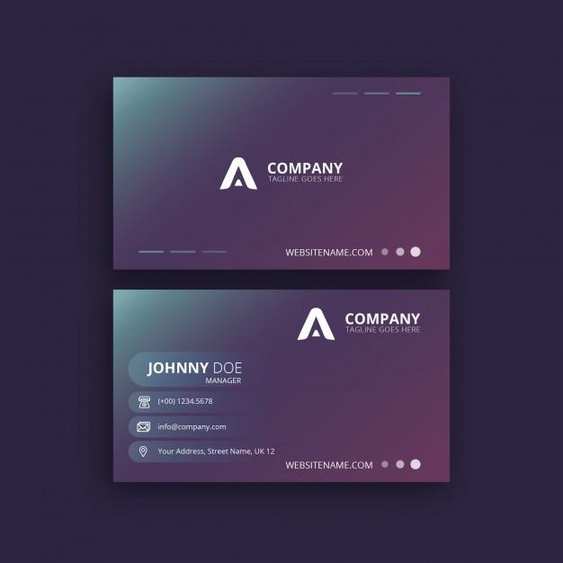 Conception de carte de visite créative Vecteur Premium