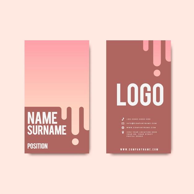 Conception de carte de visite rétro moderne et créative Vecteur gratuit