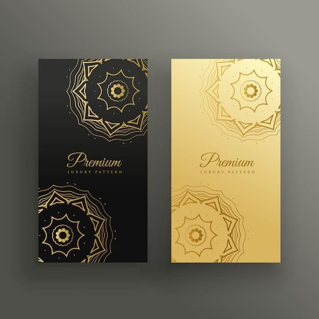 Conception De Carte Visite Style Mandala Premium