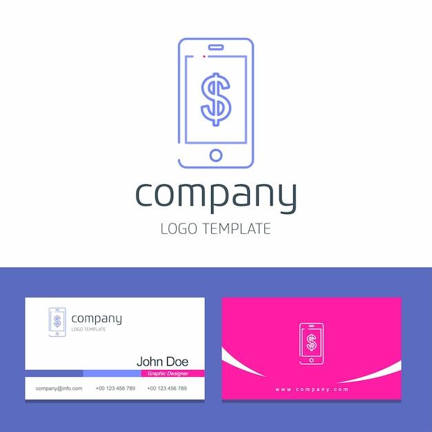 Conception De Carte Visite Avec Vecteur Logo Entreprise