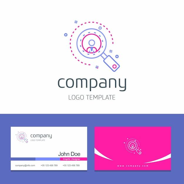 Conception de carte de visite avec vecteur de logo société flèches Vecteur gratuit