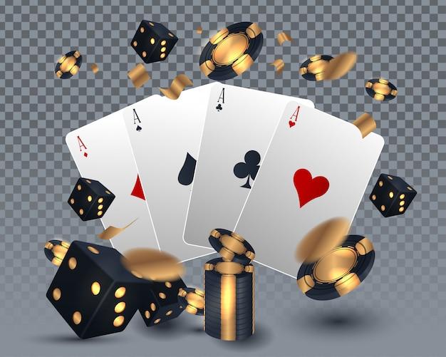 Conception de cartes de casino Vecteur Premium