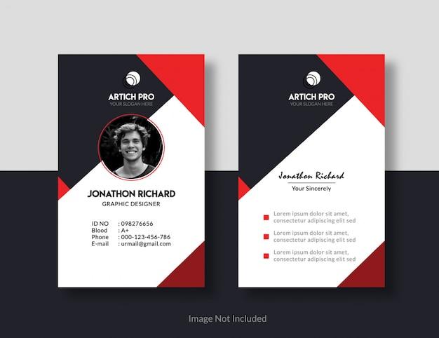Conception de cartes d'identité Vecteur Premium