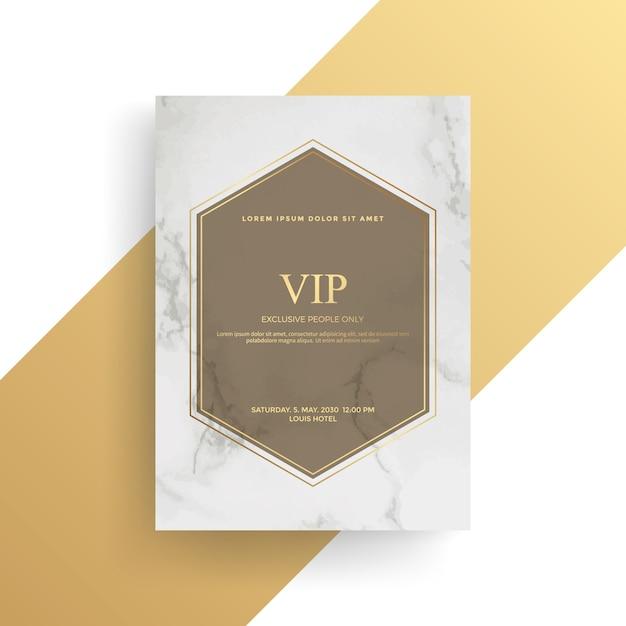 Conception de cartes d'invitation de luxe avec texture dorée, modèle de carte gold Vecteur Premium