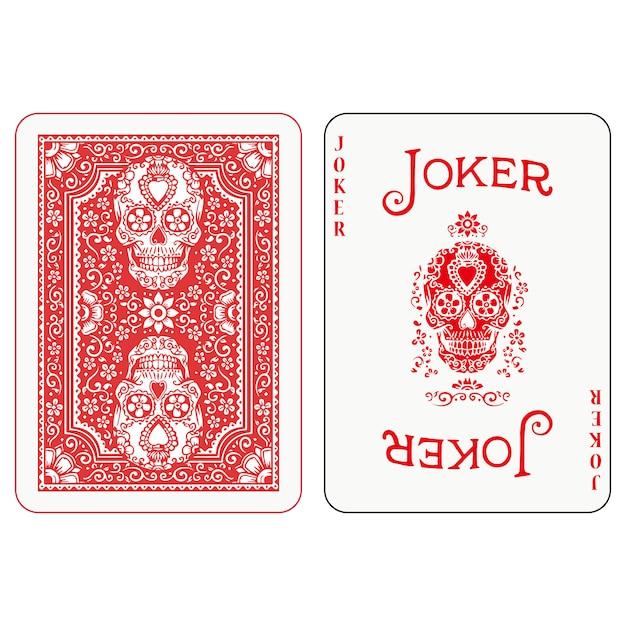 Conception de cartes à jouer au poker Vecteur Premium