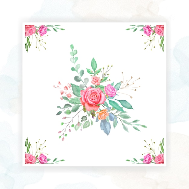 Conception de cartes de mariage aquarelle Vecteur Premium