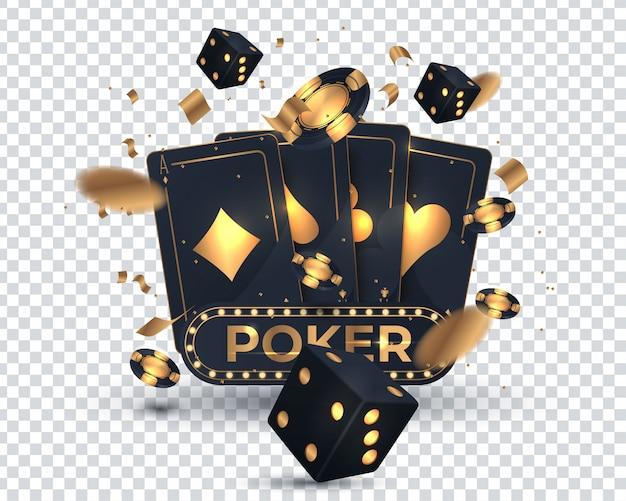 Conception de cartes de poker de casino Vecteur Premium