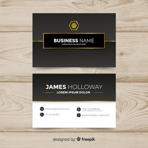 Conception de cartes de visite d'entreprise Vecteur gratuit