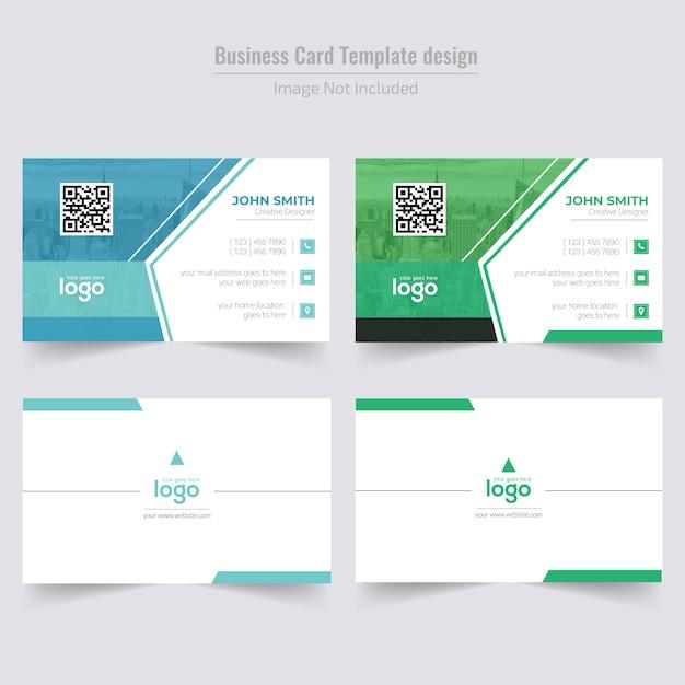 Conception de cartes de visite d'entreprise Vecteur Premium