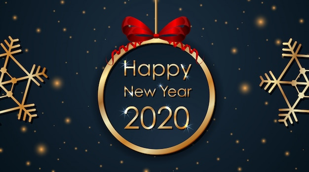 Conception De Cartes De Voeux Pour Le Nouvel An 2020 Vecteur Gratuite