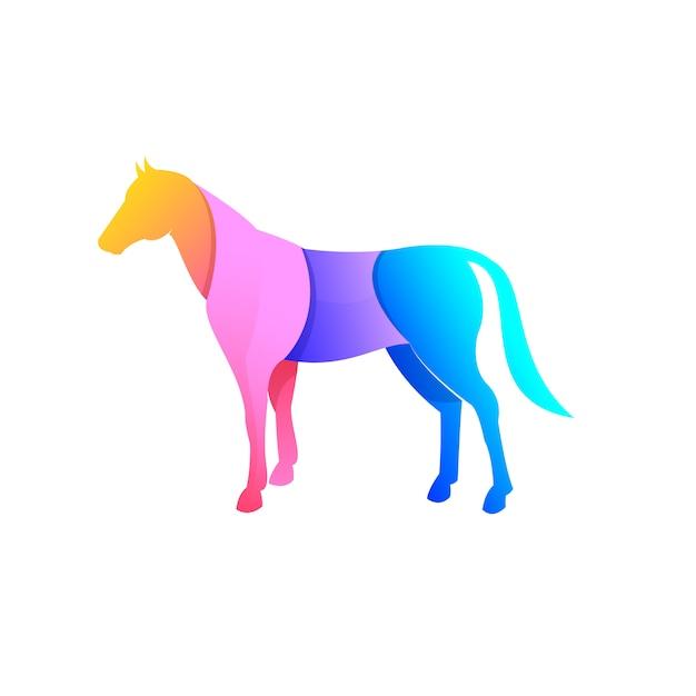 Conception de cheval Vecteur Premium