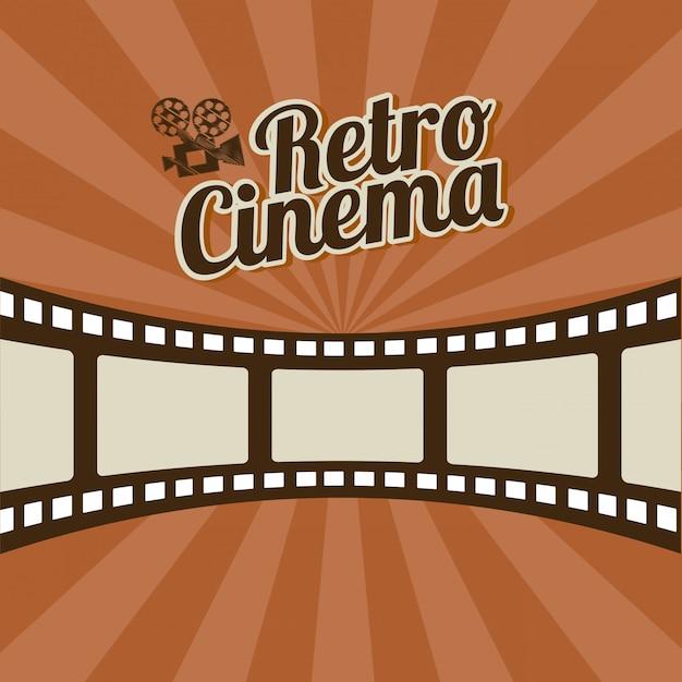Conception de cinéma au cours de l'illustration vectorielle fond rayures Vecteur Premium