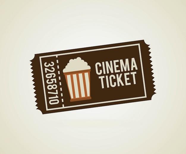 Conception de cinéma sur illustration vectorielle fond beige Vecteur Premium