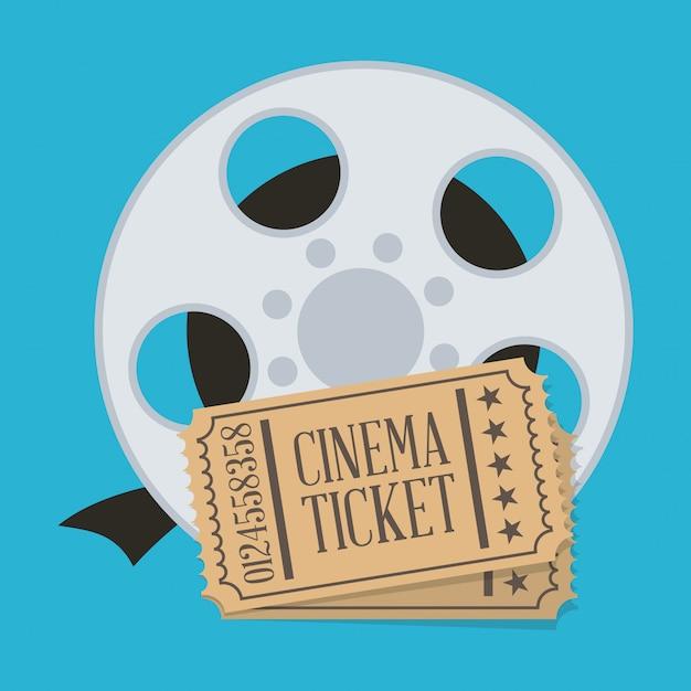 Conception de cinéma Vecteur Premium