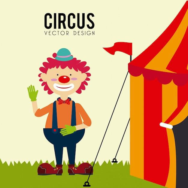 Conception de cirque Vecteur Premium