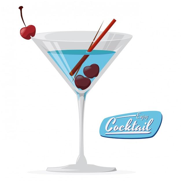 Conception de cocktail Vecteur Premium