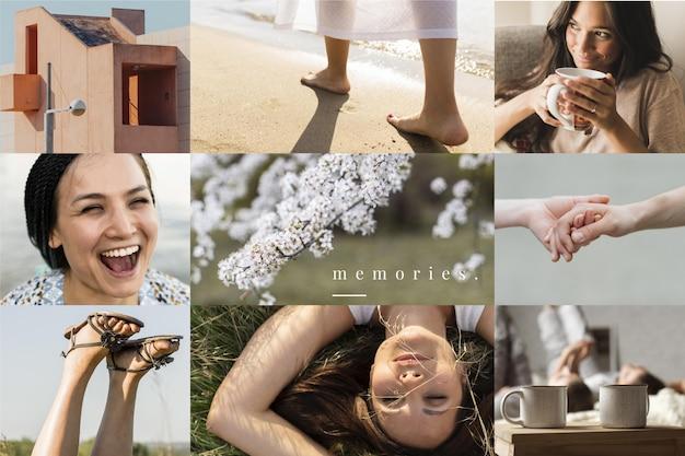 Conception De Collage De Photos Vecteur gratuit