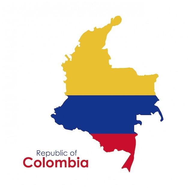 Conception De La Colombie Vecteur Premium