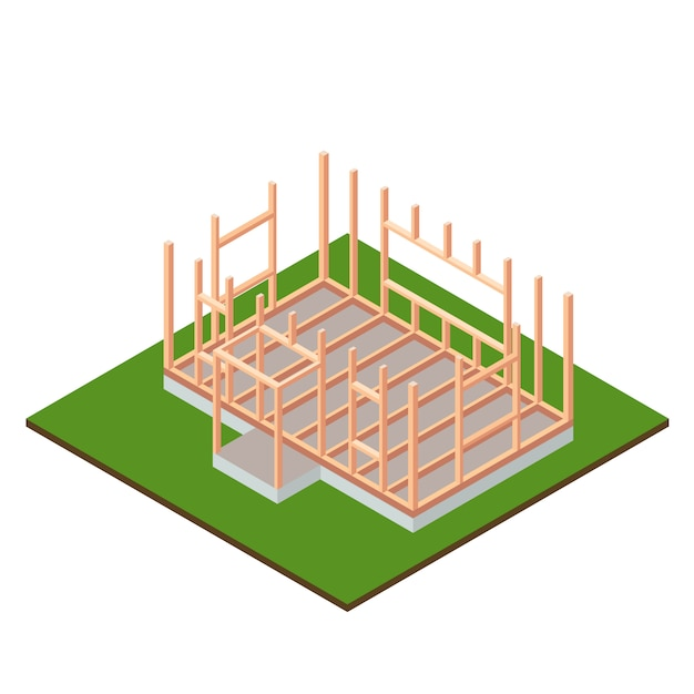 Conception De Construction De Base De Maison à Ossature Bois
