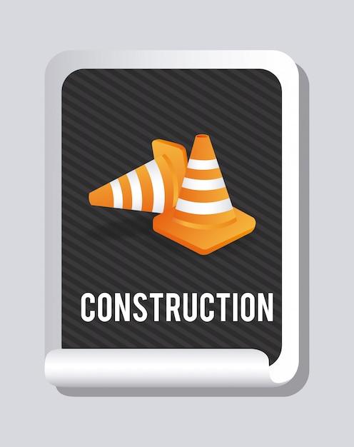 Conception de la construction Vecteur gratuit