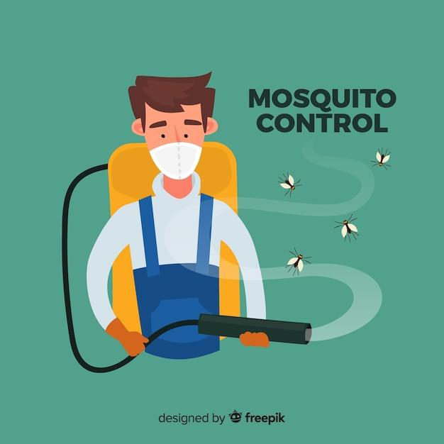 Conception de contrôle des moustiques Vecteur gratuit