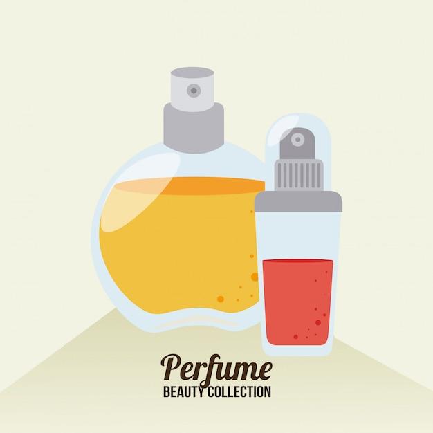 Conception de cosmétiques sur illustration beige Vecteur gratuit