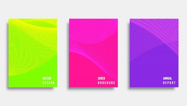Conception de la couverture abstraite Vecteur Premium