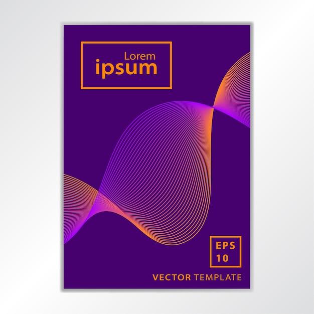 Conception de couverture de brochure d'affaires minimale Vecteur Premium