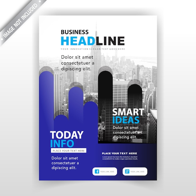 Conception de couverture de brochure d'entreprise abstraite Vecteur gratuit