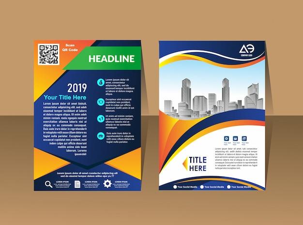 Conception de couverture de disposition de modèle de brochure Vecteur Premium