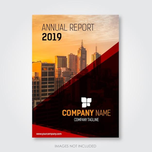 Conception de la couverture du rapport annuel Vecteur Premium