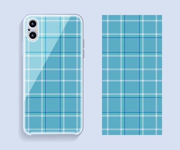 Conception De La Couverture Du Smartphone. Modèle De Motif Géométrique Pour La Partie Arrière Du Téléphone Mobile. Design Plat. Vecteur Premium